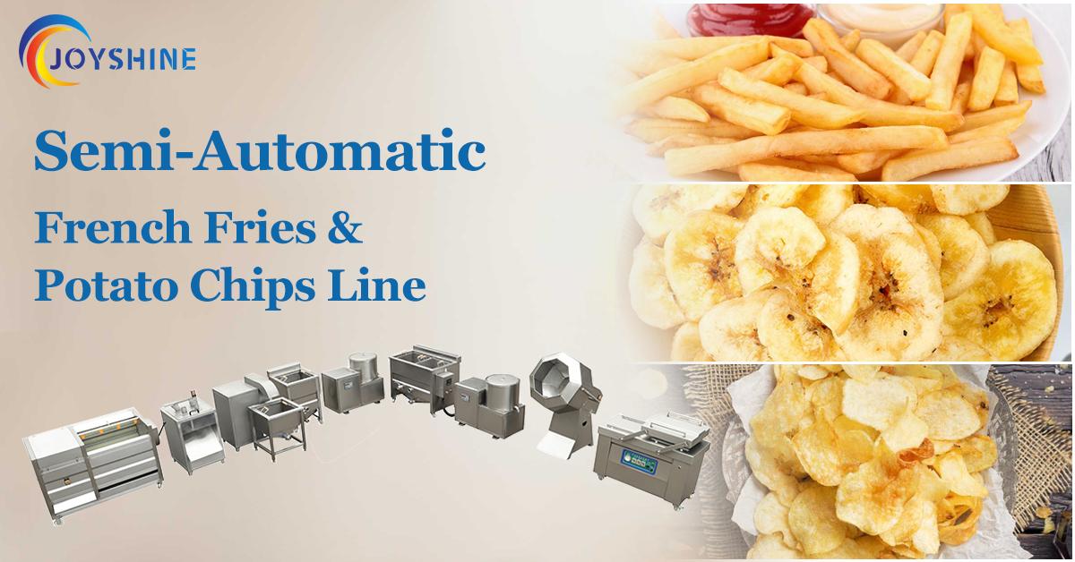 semi-automatic potato chips production line