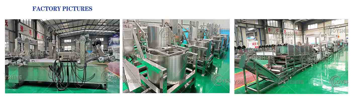 Details of potato chips frying line