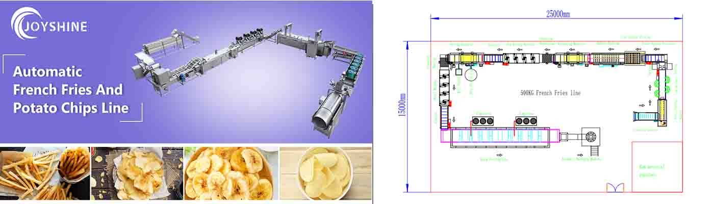 400kgh fully automatic french fries line solution