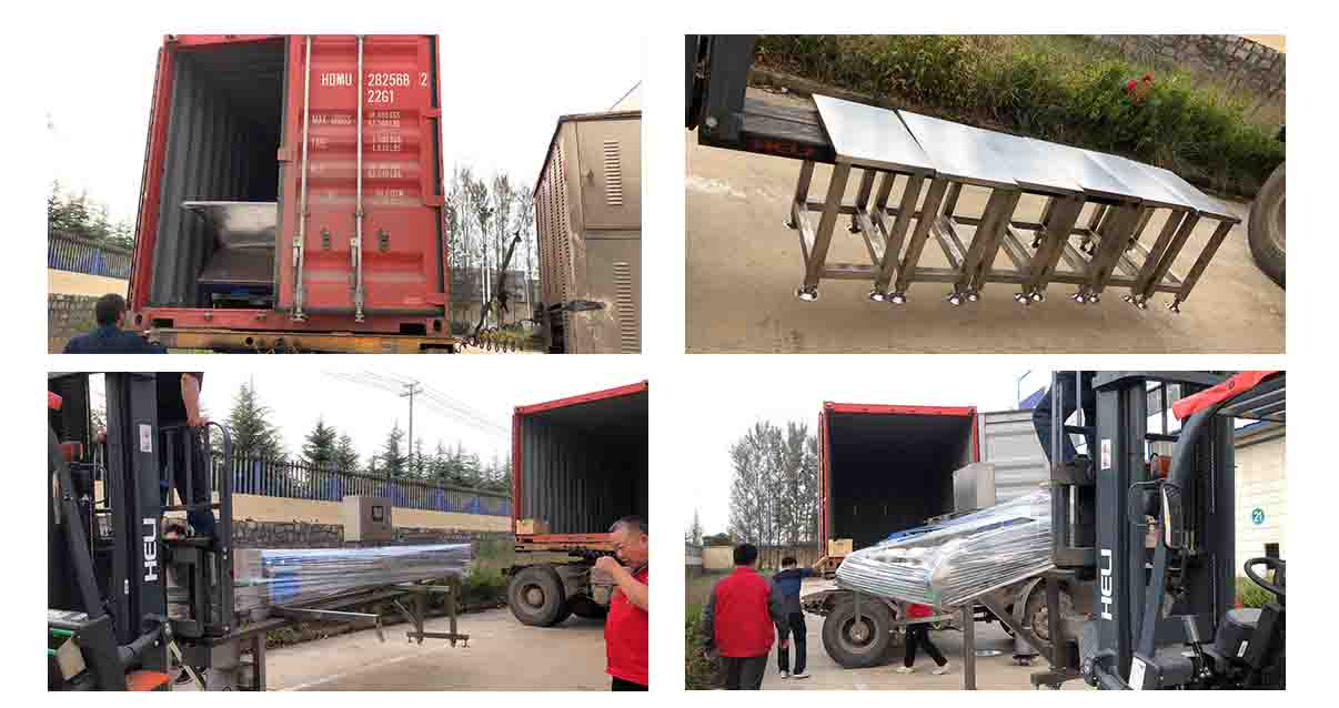 shipping of vegetable and fruit weighing line in Ecuador